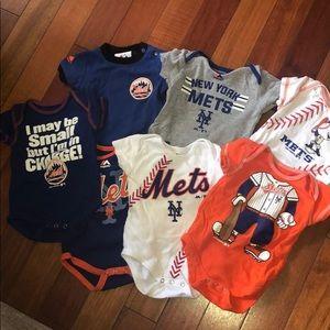 Kids Mets Onesies Bundle 3-6 months